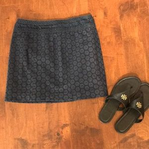 Nanette Lepore Crocheted Navy Skirt size 4